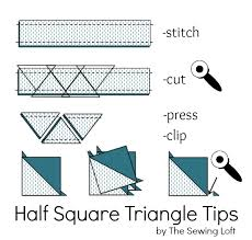 Half Square Triangle Cutting Chart Half Square Triangles Quilting Basics The Sewing Loft