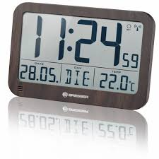 bresser mytime mc lcd wall table clock