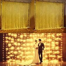 224led 9 8ft 6 6ft curtain string fairy wedding led lights for garden wedding party warm white com