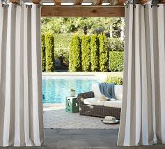 sunbrella awning stripe indooroutdoor grommet d pottery barn outdoor curtains sunbrella