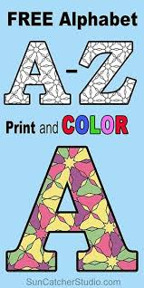 Free Printable Alphabet Coloring Pages Letters And Numbers