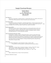 Functional Bank Teller Resume Template