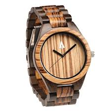 treehut engraved wood and bamboo watches zebrawood ebony all wooden watch