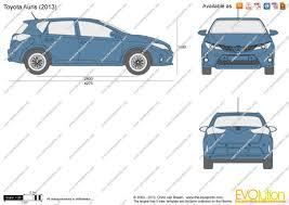 Toyota Auris Dimensions 2013 РId̩e d'image de voiture