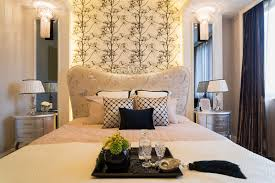 Resort style bedroom with beautiful bed