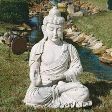 buddha garden statue. Giant Meditative Buddha Of The Grand Temple Garden Statue N