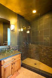 bathrooms remodel. Pool Bathroom Remodel, Cantilevered Vanity Cabinets, Slate Countertop, Glass Vessel Sink, Bathrooms Remodel B