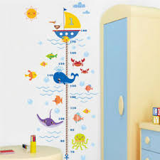 Bathroom Chart For Kids Details About Kids Room Growth Chart Childrens Bedroom Decals Bathroom Sea Decorations Nursery