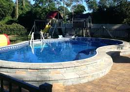 semi inground pool cost. Semi Inground Pools Compact With Deep End Oasis Pool Prices Cost