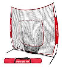 Amazon.com : PowerNet Baseball and Softball Practice Net 7 x with bow frame Sports \u0026 Outdoors