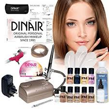 dinair personal pro airbrush makeup kit um colour set 8pc foundation set new