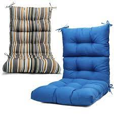 2pcs solid outdoor chair cushion high