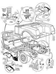 rear body gas club car parts & accessories wiring diagram for 2005 club car 48 volt at 2000 Club Car Golf Cart Electric Wiring