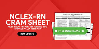 Nclex Rn Cram Sheet For Nursing Exams 2019 Update Nurseslabs