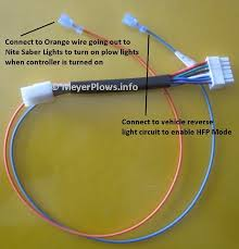meyer plow help com meyer plow wiring identification information keep in mind that connecting the orange and blue wires is optional