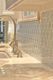 How To Grout Tile Backsplash Magnificent FAVPale Blue Tile Backsplash With White Grout Against White