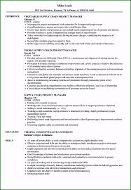 Supply Chain Management Resume Amazing Supply Chain Project