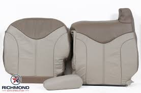 2001 2002 gmc sierra denali c3 leather seat covers driver side complete set 2 tone tan