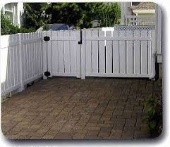 Vinyl fence styles Brown Vinyl Semi Privacy Vinyl Fence Smucker Fencing Vinyl And Pvc Fence In Pennsauken Nj