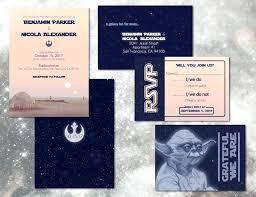 Digital Invitations Star Wars Wedding Invitation Set Custom