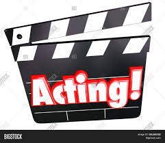 Word In Red Acting Word Red 3d Image Photo Free Trial Bigstock