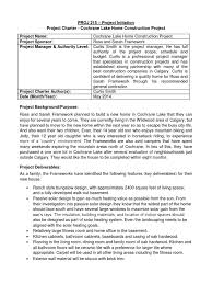 project charter construction download sample project charter docshare tips