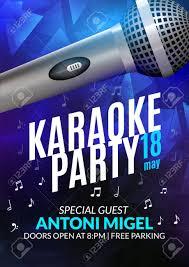 Karaoke Night Flyer Template Karaoke Party Invitation Poster Design Template Karaoke Night 13