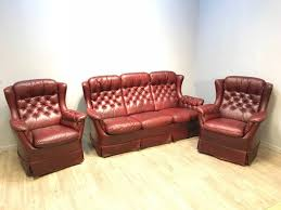 sofaset. Fine Sofaset Sofa Set With Two Chesterfield Club Chairs 1970s 1 On Sofaset