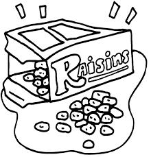 Raisins Coloring Page Color Bros