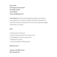 Elderly Caregiver Resumes Sample Resume Caregiver Sample Resume For Caregiver Caregiver Resume