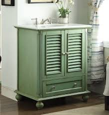 beach style bathroom. 30 Inch Bathroom Vanity Cottage Coastal Beach Style Vintage Green Color (30\
