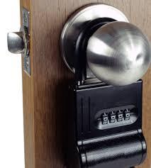 Over The Door Knob Locking Key Holder
