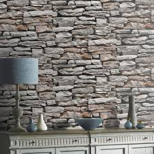 arthouse moroccan grey stone wallpaper 623000