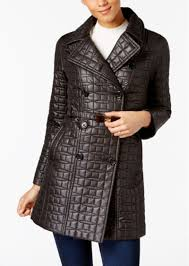 kate spade new york quilted bow belted trench coat