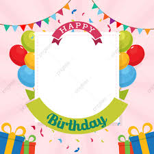 Happy Birthday Background Design Png 012 Pngtree Happy Birthday Typography Vector Design Template