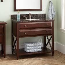 Open Shelf Vanity Bathroom Wood Open Shelf Vanity Signature Hardware