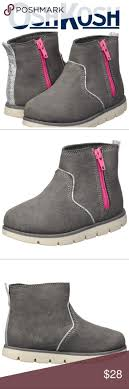NWT OshKosh Girls Side <b>Zip</b> Ankle Boots Description This low ...