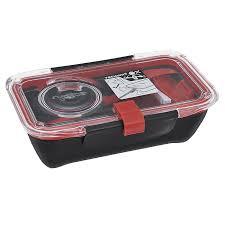 """<b>Ланч</b>-<b>бокс Black</b>+<b>Blum</b> """"<b>Bento Box</b>"""", цвет: черный, красный, 18,5 ..."""