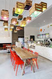 used pendant lighting. Lighting Design Idea - Painted Wooden Crates Have Been Used To Create Pendant In This L