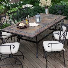 Gorgeous tile patio table furnishing outdoor spaces with outdoor tile tabletop