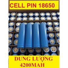 Cell Pin 18650 4200mAh SIÊU BỀN dung lượng chuẩn dùng cho quạt MINI đèn pin  tông đơ cắt tóc, chế tạo pin dự phòn giá cạnh tranh