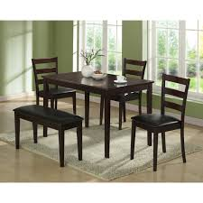 monarch griffith  piece dining table set with bench  jetcom