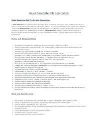 Sales Associate Qualifications Sales Associate Job Description For Resume