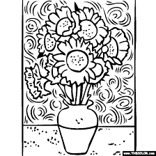 Small Picture Ideas of Van Gogh Coloring Pages With Sample Proposal