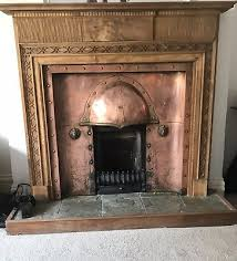 antique copper fireplace and surround