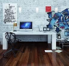 futuristic home office. Fabulous-Futuristic-Pop-Art-Style-office-interior-ideas- Futuristic Home Office O