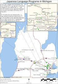 study in michigan and ohio consulate general of japan in detroit Ohio Colleges Map map of language programs in michigan ohio college map