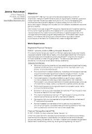 Sample Resume Physical Therapist Physiotherapy Assistant Therapy