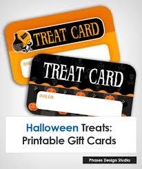 Halloween Gift Cards Halloween Treats Phases Design Studio
