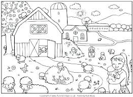 Farm Coloring Pages Preschool Animal For Preschoolers Free At